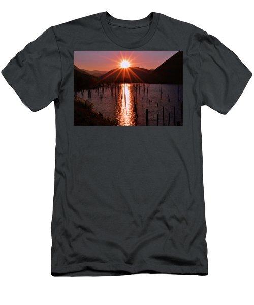 Starburst Sunrise - Earthquake Lake 005 Men's T-Shirt (Athletic Fit)