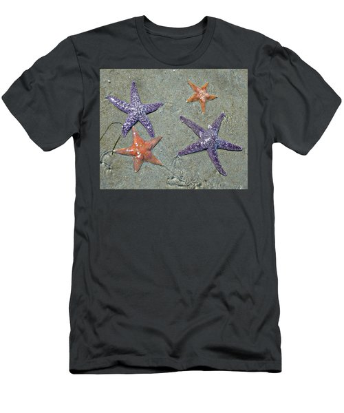 Men's T-Shirt (Athletic Fit) featuring the photograph Starfish Party by 'REA' Gallery