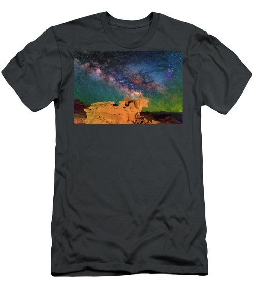 Stargazing Bull Men's T-Shirt (Athletic Fit)