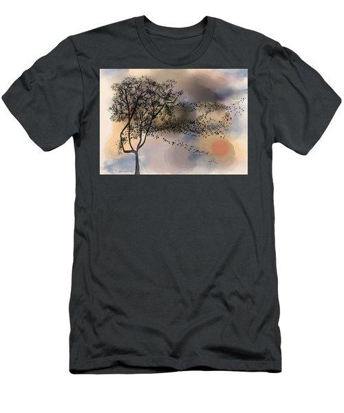 Starlings At Dusk Men's T-Shirt (Athletic Fit)