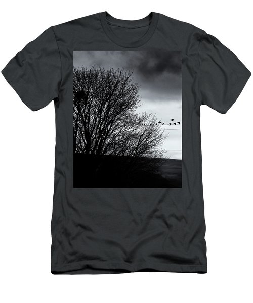 Starlings Roost Men's T-Shirt (Slim Fit) by Philip Openshaw