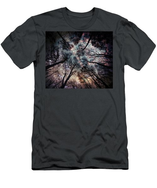 Starry Sky In The Forest Men's T-Shirt (Athletic Fit)