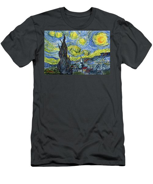 Starry, Starry Night Men's T-Shirt (Athletic Fit)