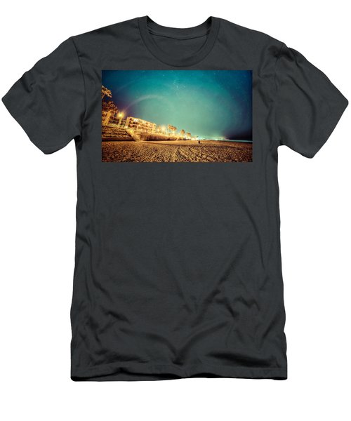 Starry Starry Pacific Beach Men's T-Shirt (Athletic Fit)
