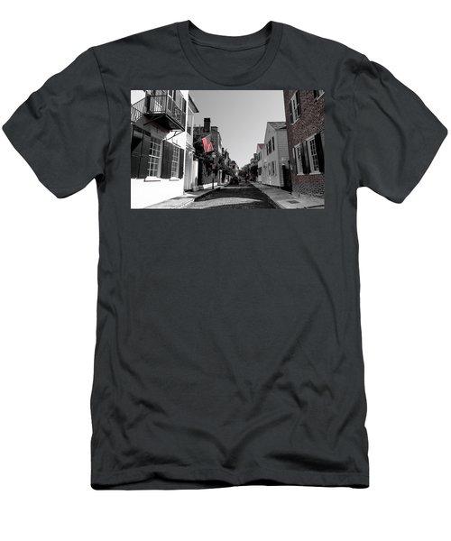 Stars And Stripes- Church St Charleston Sc Men's T-Shirt (Athletic Fit)
