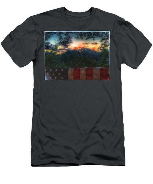 Stars Stripes And Skies Forever Men's T-Shirt (Athletic Fit)
