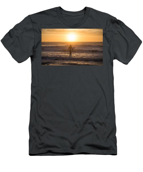 Start The Day Surfing Men's T-Shirt (Athletic Fit)
