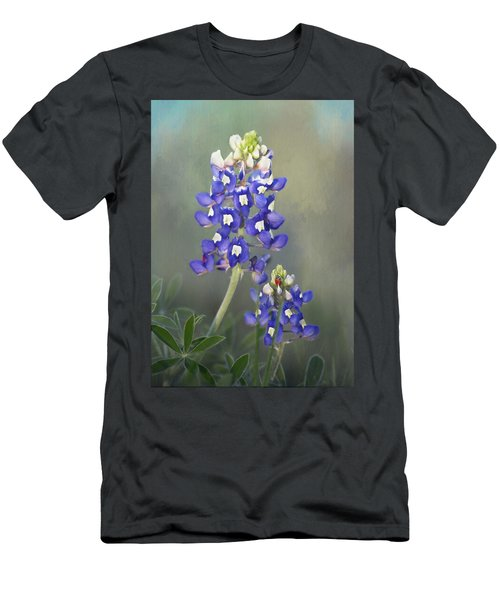 Men's T-Shirt (Slim Fit) featuring the photograph State Flower Of Texas by David and Carol Kelly
