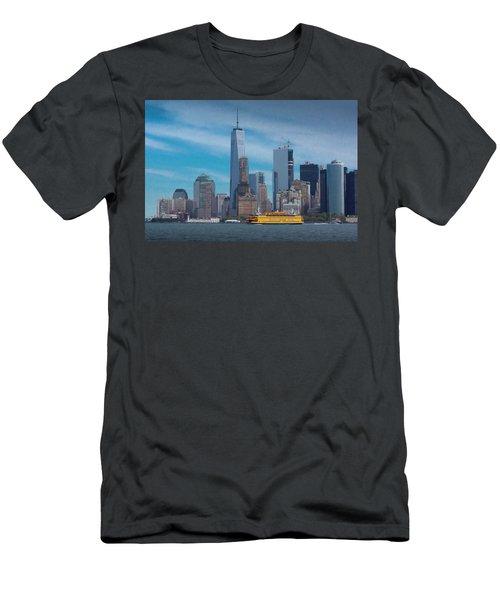 Staten Island Ferry Leaving Manhattan Men's T-Shirt (Athletic Fit)