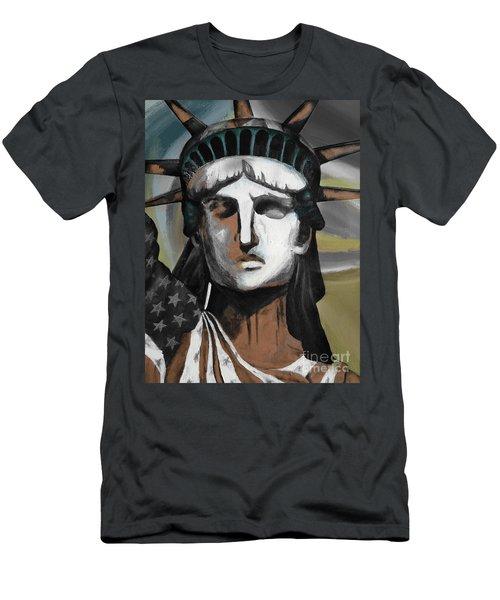 statue of liberty KJ78 Men's T-Shirt (Slim Fit) by Gull G