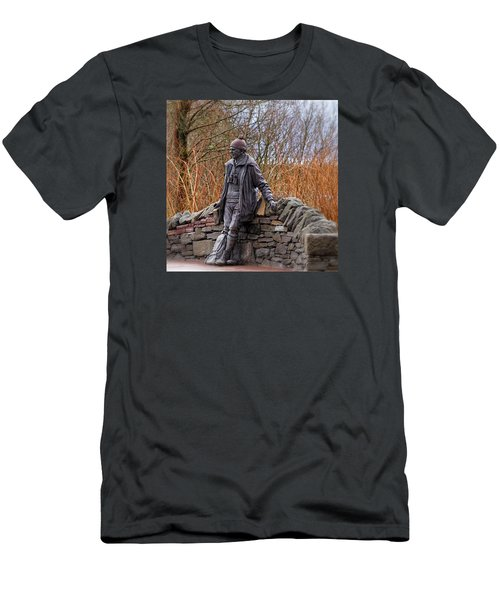 Men's T-Shirt (Slim Fit) featuring the photograph Statue Of Tom Weir by Jeremy Lavender Photography