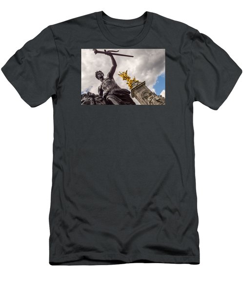 Statues In Front Of Buckingham Palace Men's T-Shirt (Athletic Fit)