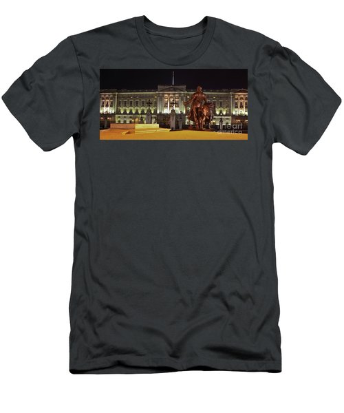 Men's T-Shirt (Slim Fit) featuring the photograph Statues View Of Buckingham Palace by Terri Waters