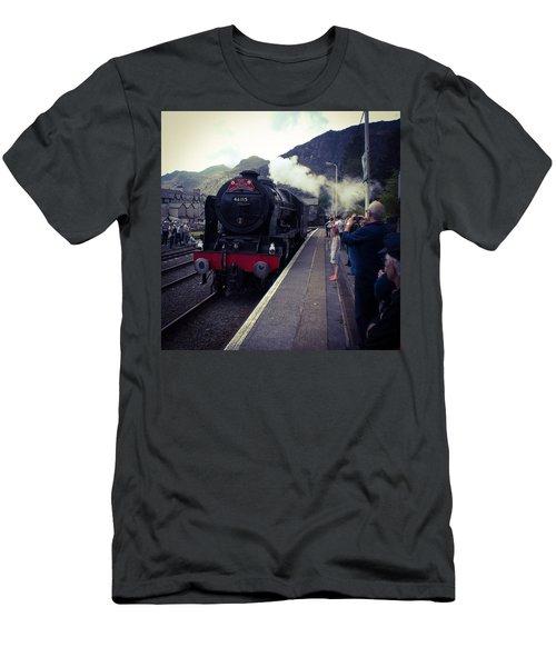 Steam Train, Ffestiniog, North Wales Men's T-Shirt (Athletic Fit)