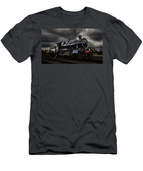 Steam Train Men's T-Shirt (Slim Fit) by Ken Brannen