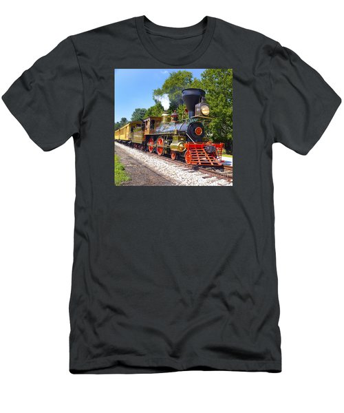 Steaming Into History Men's T-Shirt (Slim Fit) by Paul W Faust -  Impressions of Light
