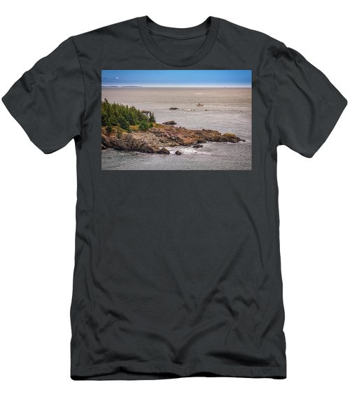 Men's T-Shirt (Athletic Fit) featuring the photograph Steaming Through Quoddy Narrows by Rick Berk