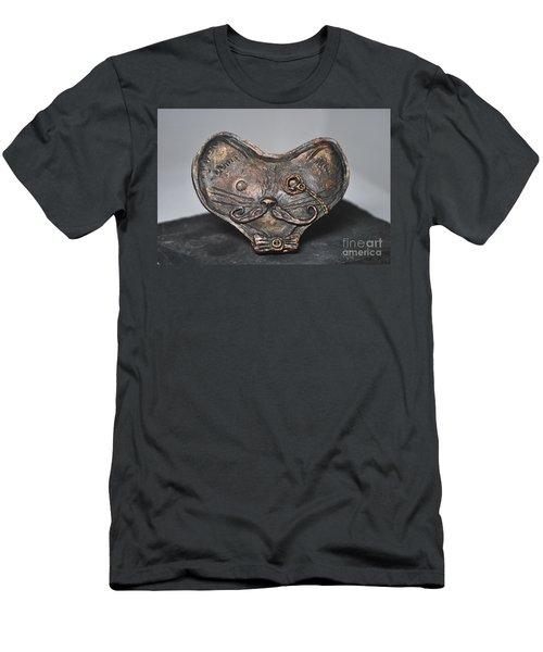 Steampunk Cat  Men's T-Shirt (Slim Fit) by Reina Resto