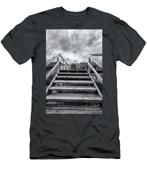 Men's T-Shirt (Athletic Fit) featuring the photograph Step On Up by Linda Lees
