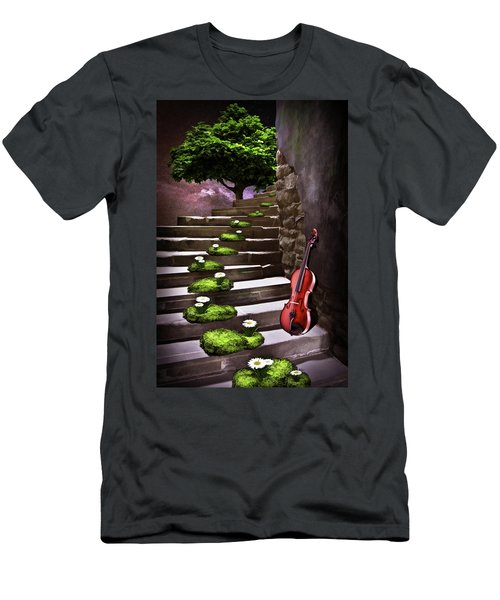 Steps Of Happiness Men's T-Shirt (Slim Fit) by Mihaela Pater