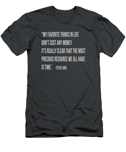 Steve Jobs Time Quote Tee Men's T-Shirt (Slim Fit) by Edward Fielding