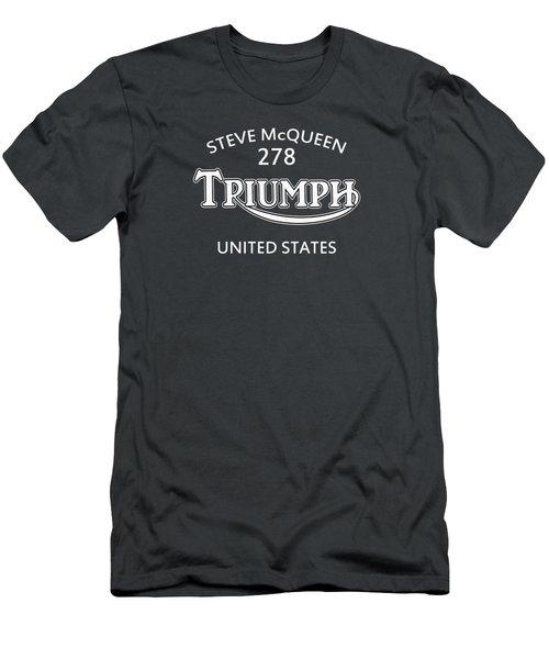 Steve Mcqueen Isdt Triumph Men's T-Shirt (Athletic Fit)