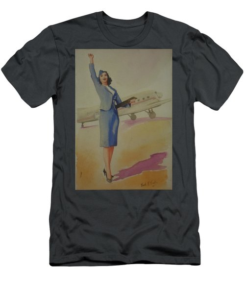 Stewardess And Dc3 Men's T-Shirt (Athletic Fit)