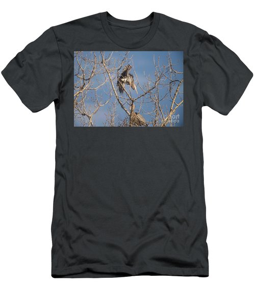 Men's T-Shirt (Slim Fit) featuring the photograph Stick Acceptance by David Bearden