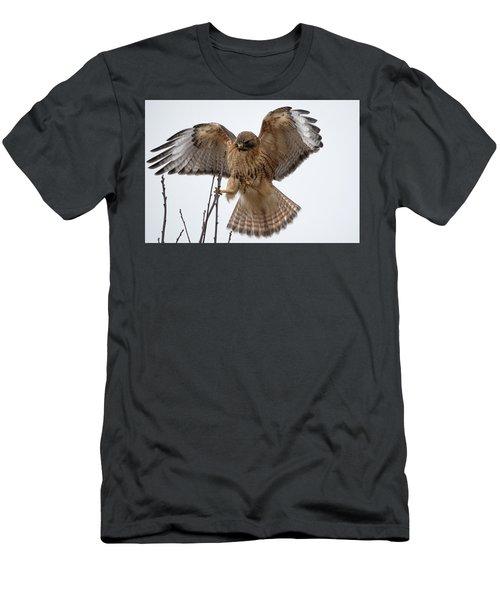 Stick The Landing Men's T-Shirt (Athletic Fit)