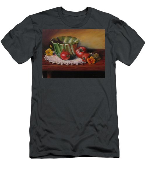 Still Life With Green Bowl Men's T-Shirt (Athletic Fit)