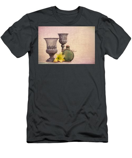 Men's T-Shirt (Slim Fit) featuring the photograph Still Life With Yellow Lily by Tom Mc Nemar