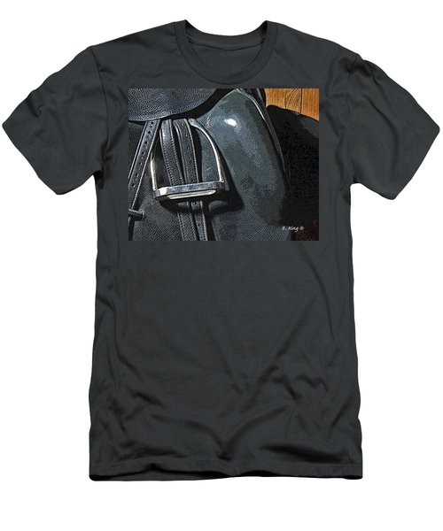 Men's T-Shirt (Slim Fit) featuring the painting Stirrup by Roena King