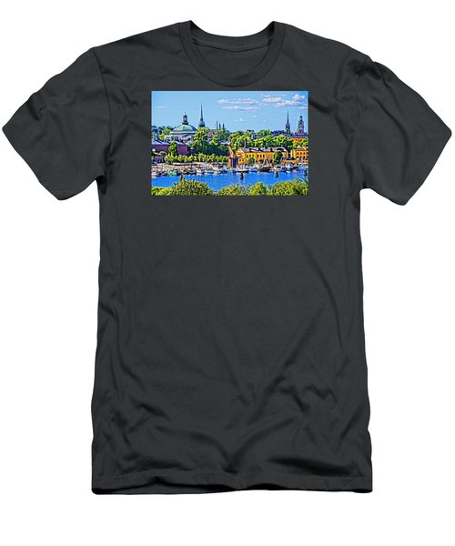 Men's T-Shirt (Slim Fit) featuring the photograph Stockholm Waterfront by Dennis Cox WorldViews
