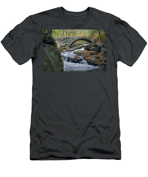 Stone Arch Bridge In Autumn Men's T-Shirt (Athletic Fit)