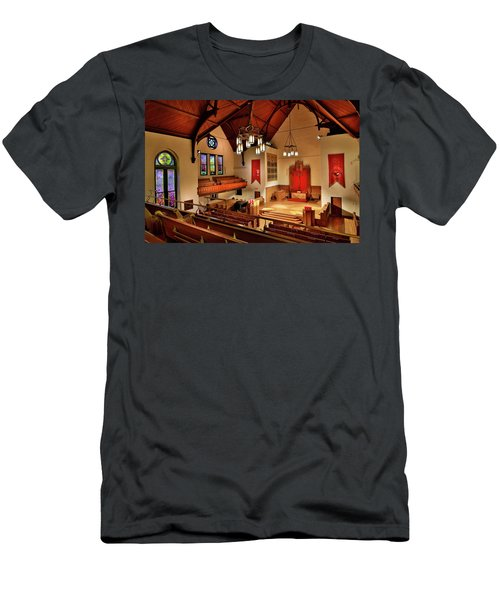 Men's T-Shirt (Athletic Fit) featuring the photograph Stone Chapel by Allin Sorenson