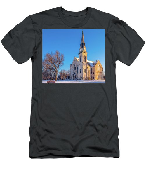 Stone Chapel In Winter Men's T-Shirt (Athletic Fit)