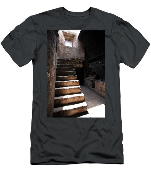 Men's T-Shirt (Athletic Fit) featuring the photograph Stone Stairs At Santa Catalina Monastery by Aidan Moran