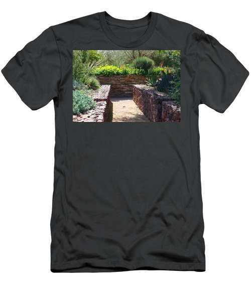 Stone Walkway Men's T-Shirt (Slim Fit) by Kathryn Meyer