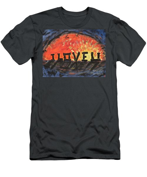 Stonehenge Sunrise Men's T-Shirt (Athletic Fit)