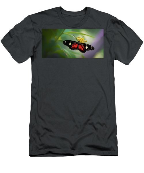 Butterfly, Stop And Smell The Flowers Men's T-Shirt (Athletic Fit)