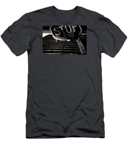 Stop End Men's T-Shirt (Slim Fit) by David Gilbert