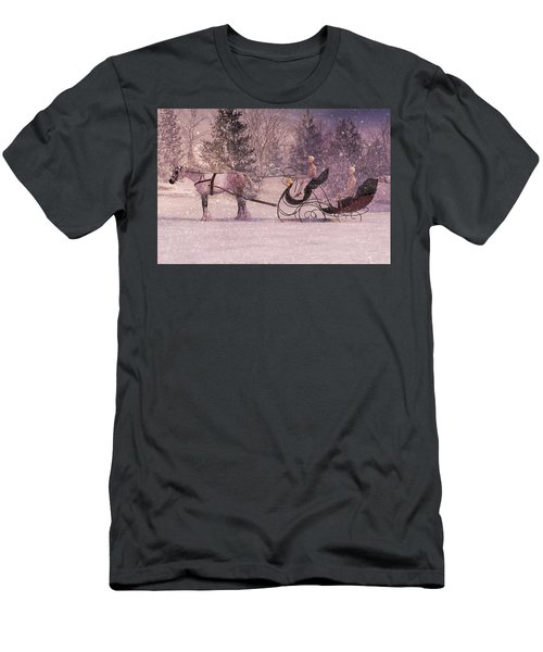 Stopping By Woods Men's T-Shirt (Athletic Fit)
