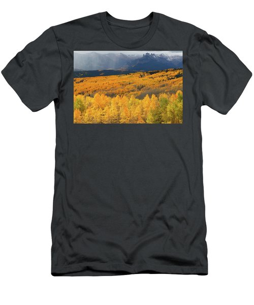 Storm At Ohio Pass During Autumn Men's T-Shirt (Slim Fit) by Jetson Nguyen