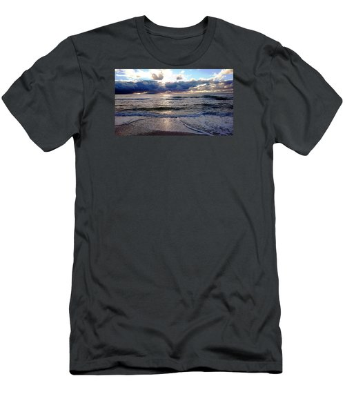 Men's T-Shirt (Slim Fit) featuring the photograph Storm Clouds 2 by Vicky Tarcau