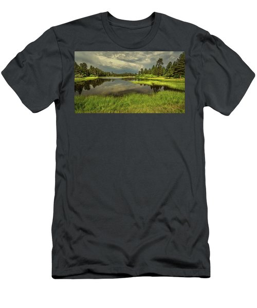 Storm Clouds Over Bluff Lake Men's T-Shirt (Athletic Fit)