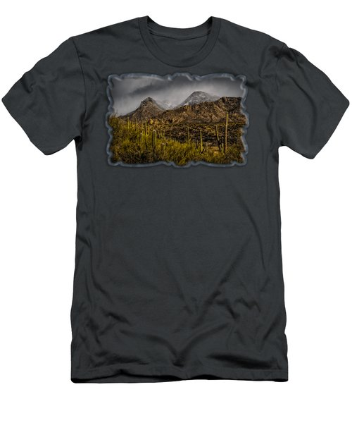 Men's T-Shirt (Athletic Fit) featuring the photograph Storm Over Catalinas 15 by Mark Myhaver