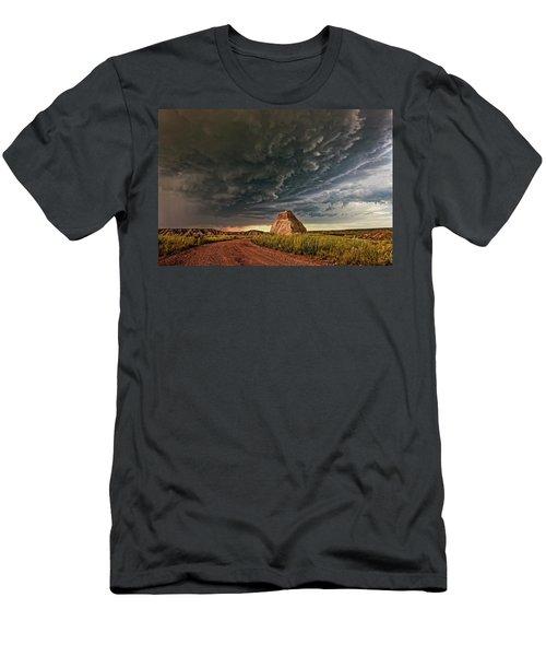 Storm Over Dinosaur Men's T-Shirt (Athletic Fit)