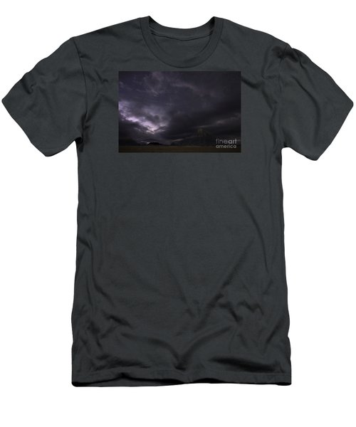 Storm Over Factory Butte Men's T-Shirt (Athletic Fit)