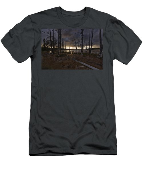 Storm Over Lower Geyser Basin Men's T-Shirt (Athletic Fit)