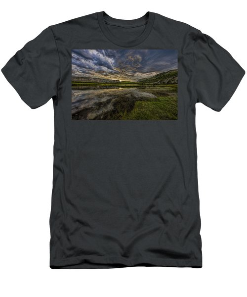 Storm Over Madison River Valley Men's T-Shirt (Athletic Fit)